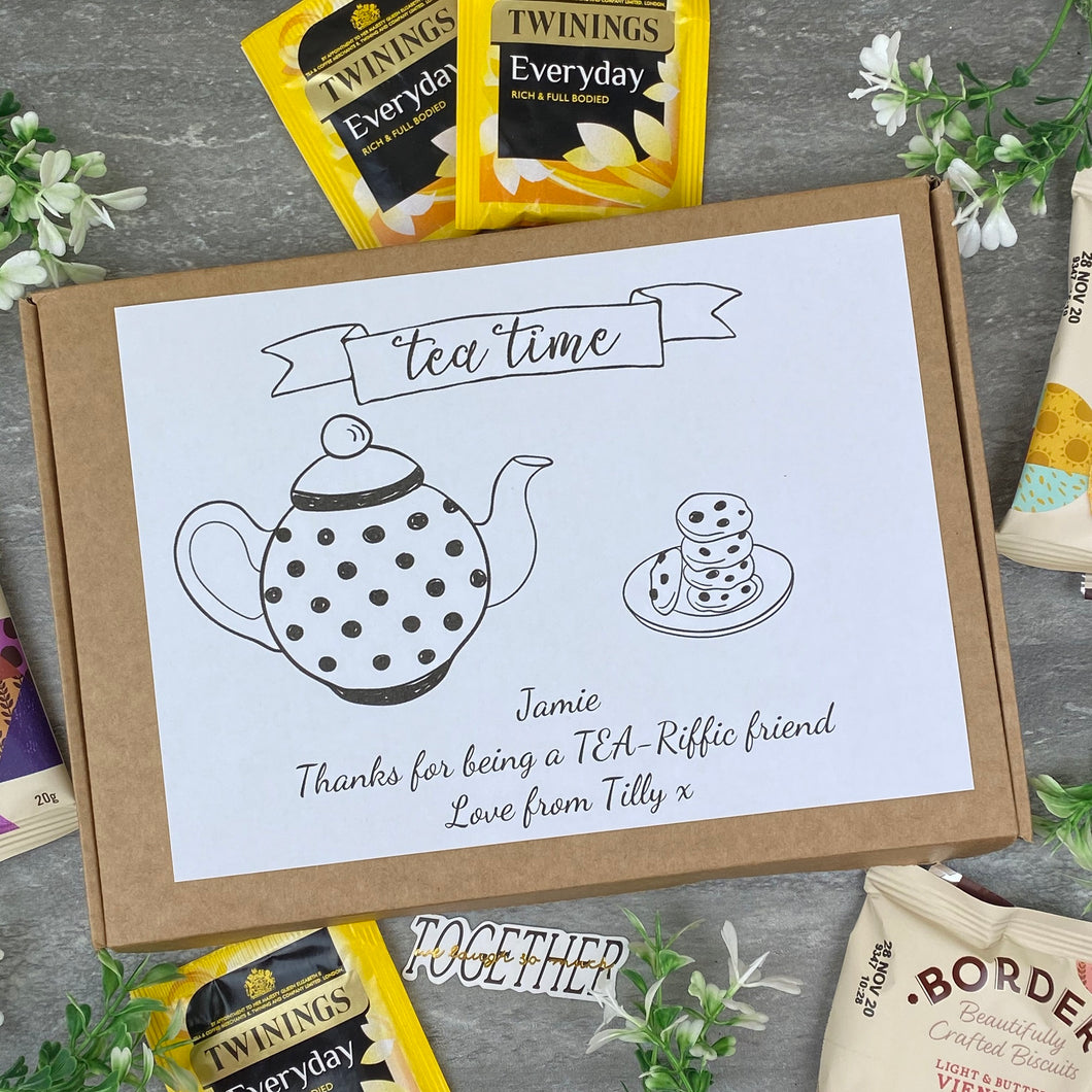 Tea-Riffic Friend Personalised Tea and Biscuit Box-The Persnickety Co