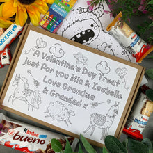 Load image into Gallery viewer, Personalised Colouring In Kinder Treat Box-The Persnickety Co