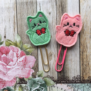 Felt Cat Paper Clip-6-The Persnickety Co