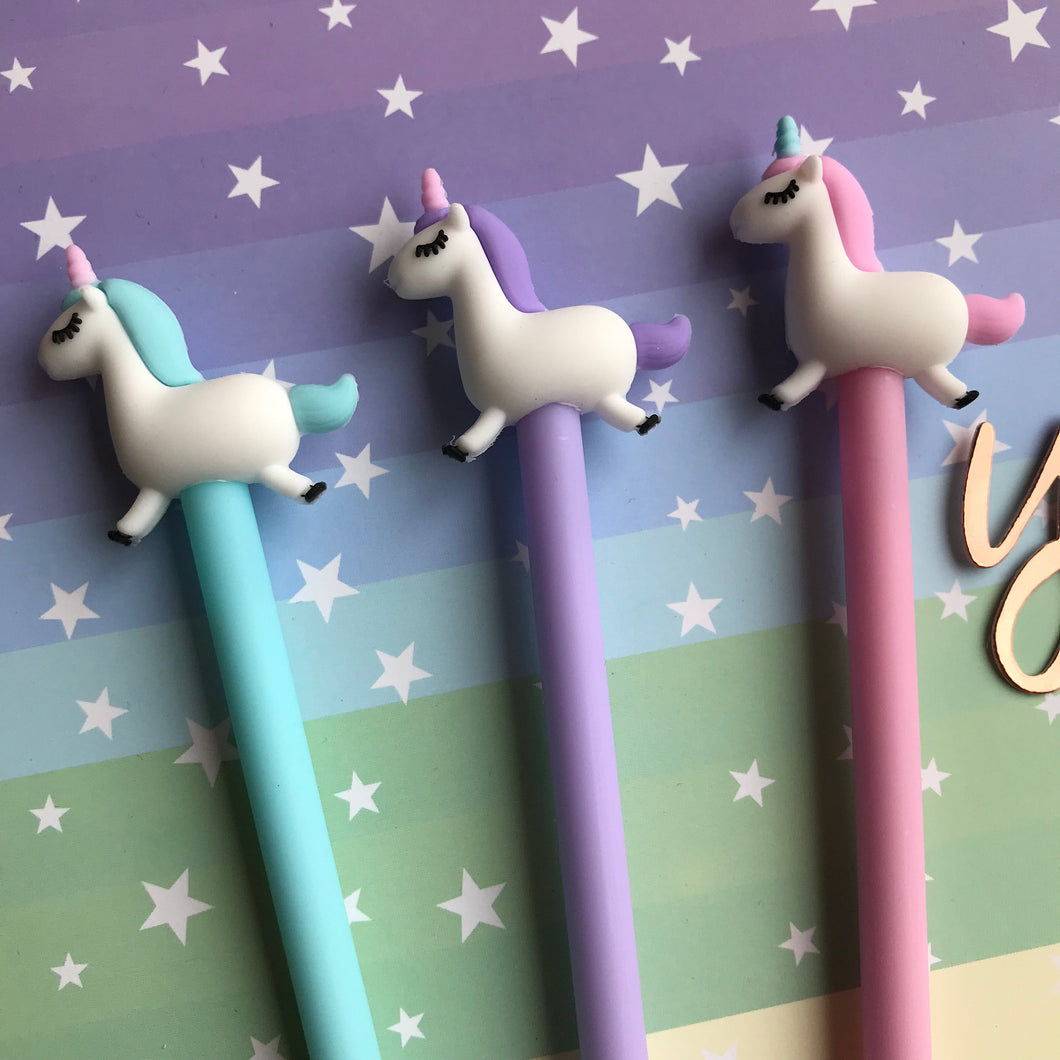 Pastel Unicorn Gel Pen-The Persnickety Co