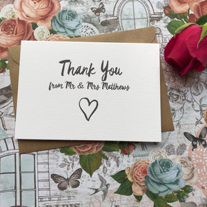 Thank You Wedding Card-2-The Persnickety Co