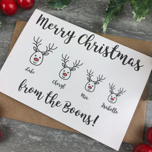 Load image into Gallery viewer, Personalised Reindeer Cards-6-The Persnickety Co