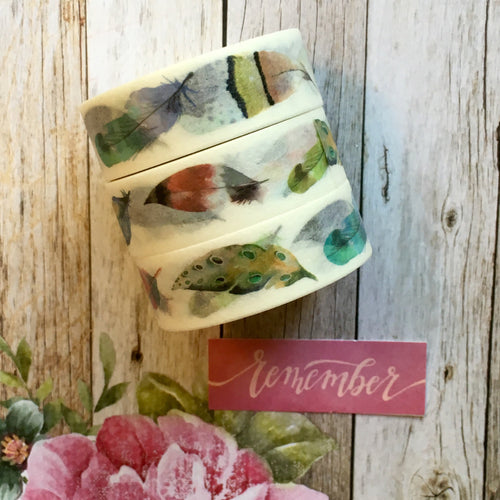 Feather Washi Tape-The Persnickety Co