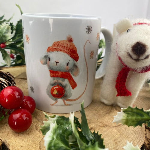 Personalised Christmouse Mug-The Persnickety Co