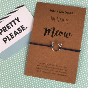 The Time is Meow Cat Wish Bracelet-3-The Persnickety Co