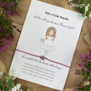 Will You Be Our Flower Girl Wish Bracelet-4-The Persnickety Co