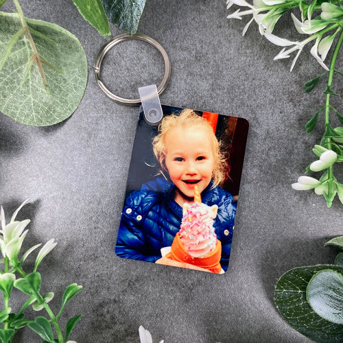 Personalised Photo Keyring - Rectangular-The Persnickety Co