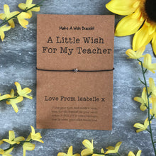 Load image into Gallery viewer, A Little Wish For A Teacher-8-The Persnickety Co