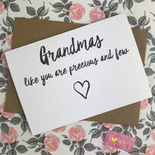 Load image into Gallery viewer, Mother's Day Card Grandmas Like You Are Precious And Few-4-The Persnickety Co