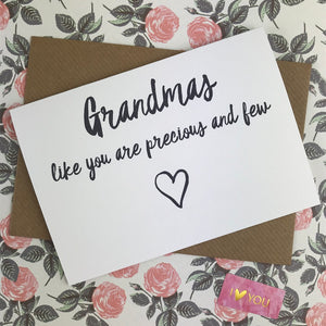 Mother's Day Card Grandmas Like You Are Precious And Few-4-The Persnickety Co