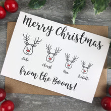 Load image into Gallery viewer, Personalised Reindeer Cards-3-The Persnickety Co
