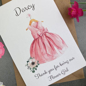 Thank You For Being Our Flower Girl - Pink-4-The Persnickety Co