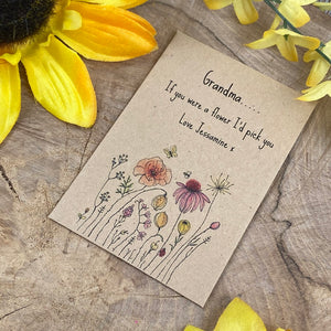 Grandma If You Were A Flower Mini Envelope with Wildflower Seeds-5-The Persnickety Co