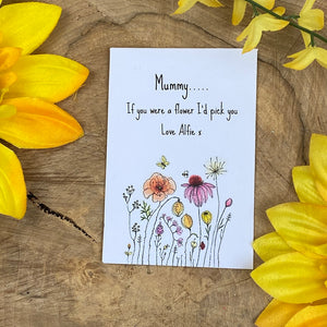 Mummy If You Were A Flower Mini Kraft Envelope with Wildflower Seeds-9-The Persnickety Co