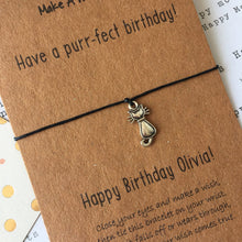 Load image into Gallery viewer, Have A Purr-fect Birthday Wish Bracelet-2-The Persnickety Co
