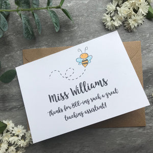 Personalised Bee Teacher Card-5-The Persnickety Co