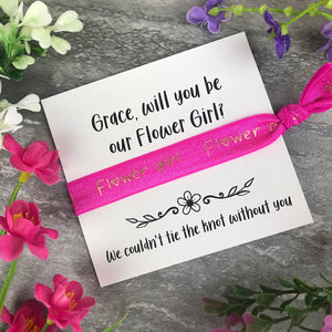 Flower Girl Proposal Hair Tie / Wrist Band-6-The Persnickety Co
