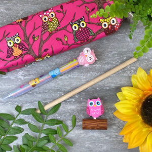 Owl Stationery Set - Pink-8-The Persnickety Co