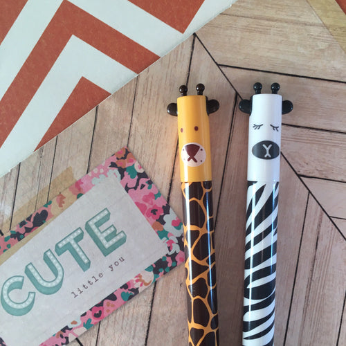 Giraffe and Zebra Gel Pens-The Persnickety Co