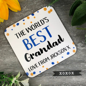 World's Best Grandad Personalised Coaster