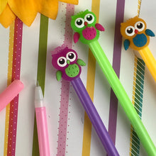 Load image into Gallery viewer, Colourful Owl Gel Pen-5-The Persnickety Co