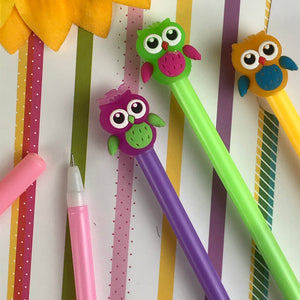 Colourful Owl Gel Pen-5-The Persnickety Co