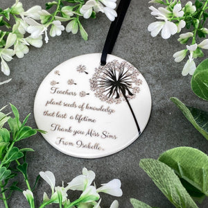 Personalised Teacher Hanging Decoration-9-The Persnickety Co