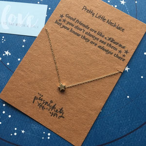 Good Friends Are Like Stars Silver/Gold Necklace-4-The Persnickety Co