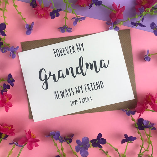 Forever My Grandma Always My Friend Card-The Persnickety Co