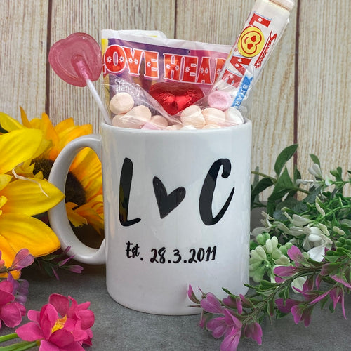 Personalised Couples Initial Mug-The Persnickety Co