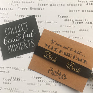 Hen Party Hair Tie / Wristband - To have and to hold your hair back-4-The Persnickety Co