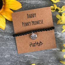 Load image into Gallery viewer, Daddy Pinky Promise Black Onyx Bracelet-2-The Persnickety Co