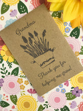 Load image into Gallery viewer, Grandma Thank You For Helping Me Grow Mini Kraft Envelope with Wildflower Seeds-5-The Persnickety Co