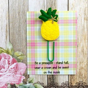 Felt Pineapple Paper Clip-2-The Persnickety Co