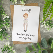 Load image into Gallery viewer, Thank You For Being Our Pageboy Card-8-The Persnickety Co