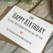 Load image into Gallery viewer, Personalised Humorous Birthday Card-3-The Persnickety Co