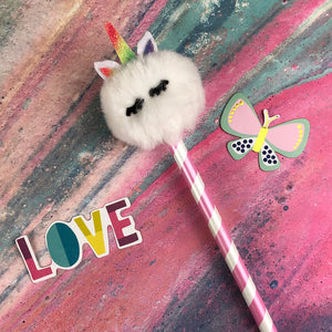 Fluffy Unicorn Pencil-5-The Persnickety Co
