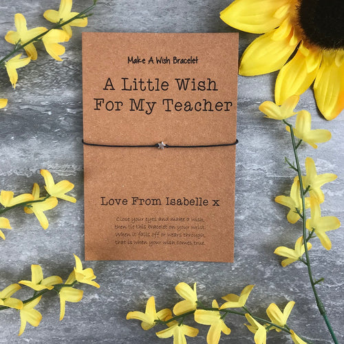 A Little Wish For A Teacher-The Persnickety Co