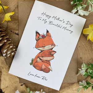 Fox Mother's Day Personalised Card-5-The Persnickety Co