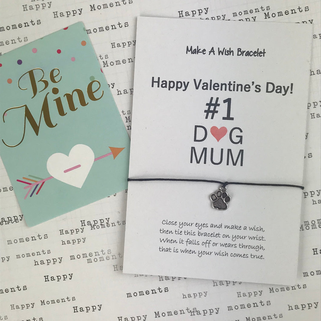 Happy Valentine's Day No. 1 Dog Mum Wish Bracelet-The Persnickety Co