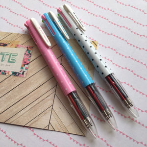 Polka Dot 4 Colour Ballpoint Pen-3-The Persnickety Co