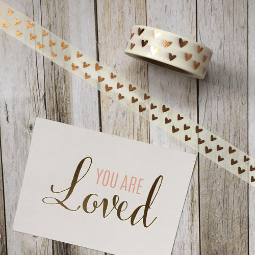 Heart Washi Tape with Foil Detailing-The Persnickety Co