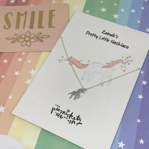 Personalised Unicorn Necklace-4-The Persnickety Co