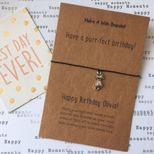 Load image into Gallery viewer, Have A Purr-fect Birthday Wish Bracelet-The Persnickety Co