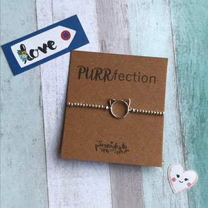 PURRfection Beaded Charm Bracelet-The Persnickety Co