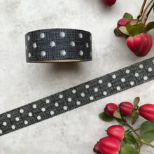 Load image into Gallery viewer, Black and White Polka Dot Washi Tape-3-The Persnickety Co