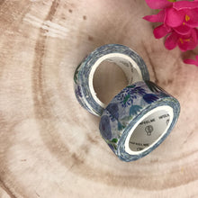 Load image into Gallery viewer, Blue Floral Washi Tape-5-The Persnickety Co