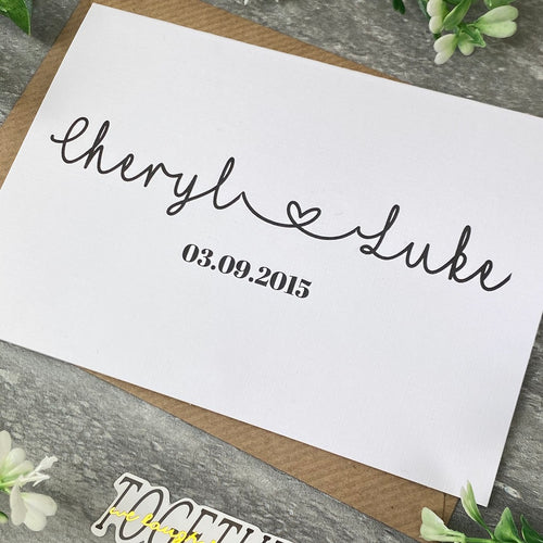 Personalised Wedding Day Card-The Persnickety Co