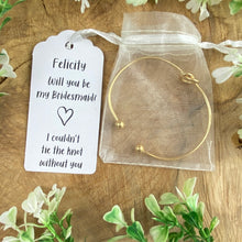 Load image into Gallery viewer, Will You Be My Bridesmaid Knot Bangle-The Persnickety Co