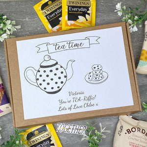 You're TEA-Riffic Personalised Tea and Biscuit Box-8-The Persnickety Co